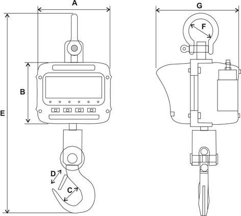 Крановые весы ВСК-Е - 5